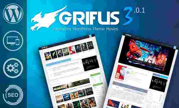 قالب سایت فیلم سریال وردپرس گریفیوس
