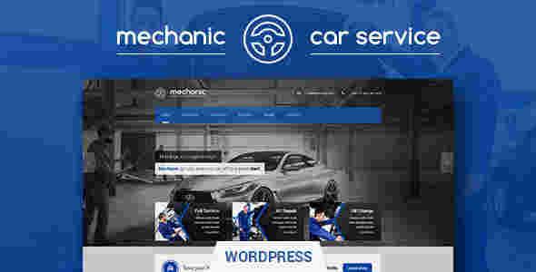 قالب سایت خدمات سرویس خودرو ماشین وردپرس RTL مکانیک