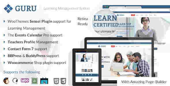 قالب سایت آموزشگاه آموزشی وردپرس RTL گورو