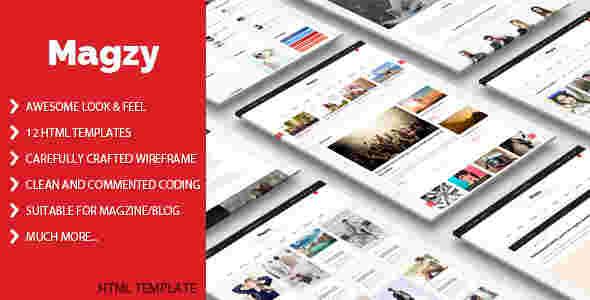 قالب سایت مجله وبلاگ نویسی 2 تا 3 تا 4 ستونه html