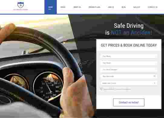 قالب شرکت آموزش رانندگی درایور html