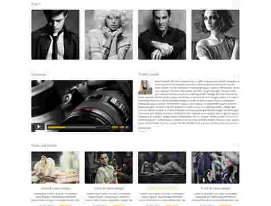 قالب تک صفحه ای عکاسی شات html