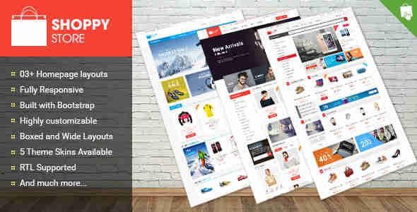 قالب زیبا فروشگاهی پرستا شاپ RTL شاپی استور