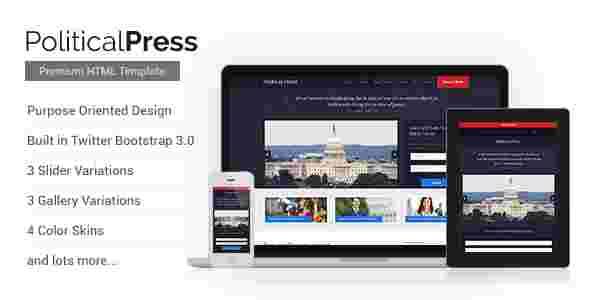 قالب سایت سازمانی وبلاگ نویسی سیاسی html