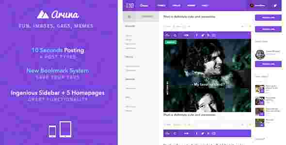 قالب مدرن وبلاگ نویسی 3 ستونه ارونا html
